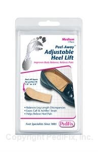 Heel lift to take tension off the Achilles tendon after surgery pain