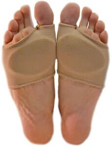 Wear gel pad to get rid of ball of foot pain
