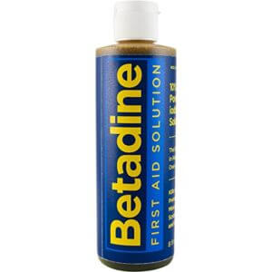 Betadine for wet wounds